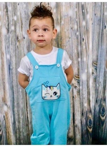 Riccotarz Erkek Çocuk Little Cat Tulum Mavi